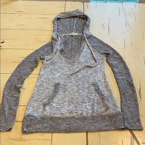 Aeropostale v neck hooded sweater